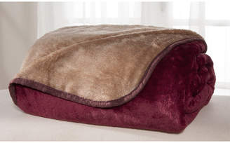 Elite Home Products All Seasons Reversible Plush Blanket