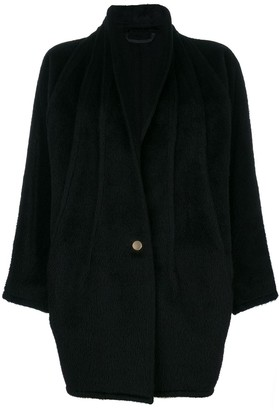 Versace Pre Owned Shawl Collar Coat