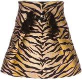 Kenzo 'Tiger Stripes' skirt - women - Silk/Cotton/Acrylic/Wool - 36