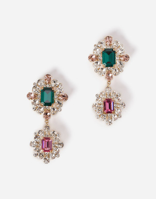 Dolce & Gabbana Drop Earrings With Decorative Rhinestone Details