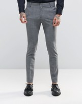 Religion Super Skinny Suit Pants In Check with Stretch