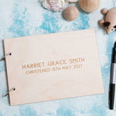 Clouds and Currents Personalised Minimalist Christening Keepsake Album