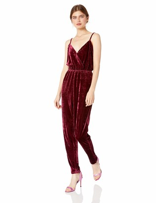 Cupcakes And Cashmere Women's Cameo Cross Front Jumpsuit w/Tapered Leg