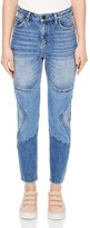 Sandro Misty Cropped Straight-Leg Jeans in Blue Vintage