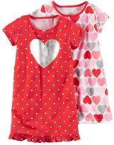 Carter's Toddler Girl 2-pk. Knee Length Nightgowns