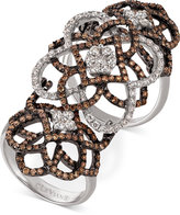 LeVian Le Vian® Chocolatier Diamond Knuckle Ring (2 ct. t.w.) in 14k White Gold