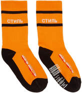 Heron Preston Orange Style Multi Rib Socks