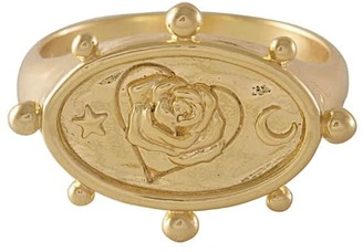 Wanderlust + Co Rhea Gold Signet Ring