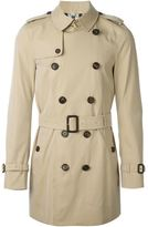 Burberry belted trench coat - men - Cotton/Viscose - 46