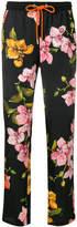 Pinko cropped drawstring printed trousers