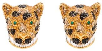 Dolce & Gabbana Encrusted Leopard Earrings