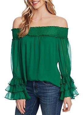 CeCe Off-the-Shoulder Long-Sleeve Blouse
