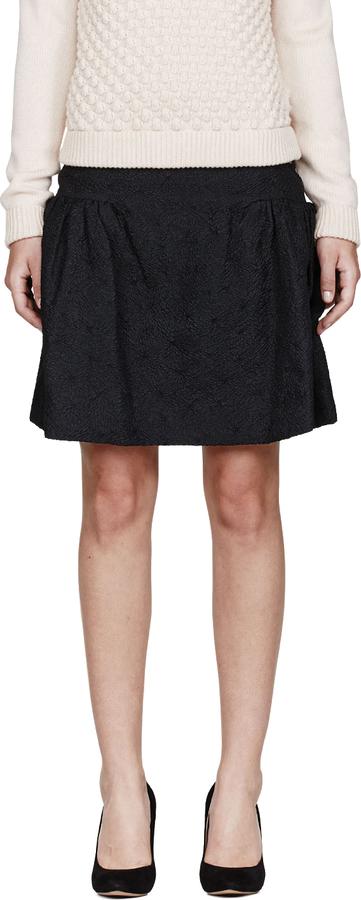 Chloé Black Dahlia Embossed Skirt