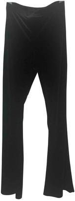 Topshop Tophop Black Velvet Trousers for Women