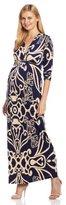 Olian Women's Maternity Cary Long Sleeve Maxi Dress