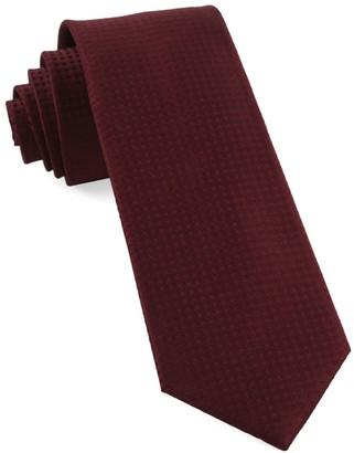 Tie Bar Check Mates Burgundy Tie
