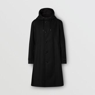 Burberry Cotton Gabardine Hooded Coat