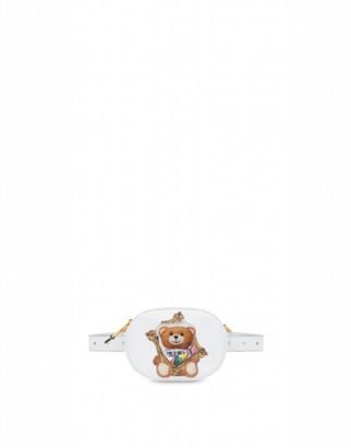 Moschino Frame Teddy Bear Waist Bag Woman White Size U It - (one Size Us)