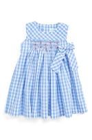 Luli & Me Infant Girl's Gingham Check Smocked Dress