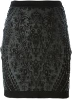 Balmain jacquard detail short skirt - women - Polyamide/Viscose - 36