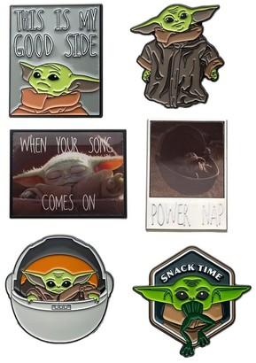 Star Wars Mandalorian The Child Baby Yoda Enamel Pin Bundle | Set of 6 - Multi