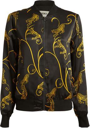 L'Agence Ollie Silk Bomber Jacket