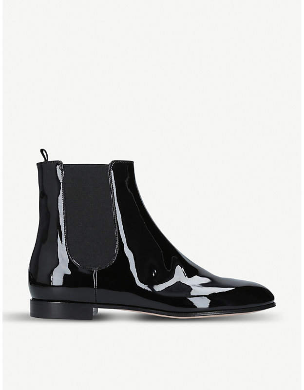 Gianvito Rossi Bailey patent-leather Chelsea boots
