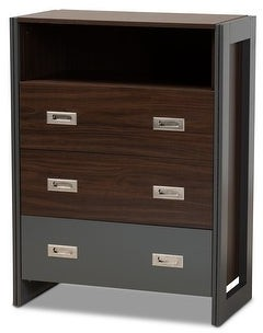 Baxton Studio Elliot Modern and Contemporary Two-Tone 3-Drawer Chest