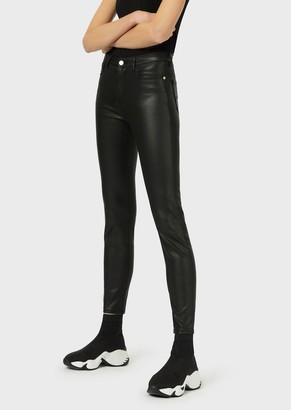 Emporio Armani Super Skinny J20 Coated Trousers