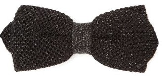 Paul Smith Silk-blend Lame-knit Bow Tie - Black