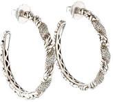 John Hardy Diamond Twist Hoop Earrings