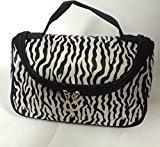 CJESLNA Fashion Zebra Pattern Lady Makeup Bag Women Portable Cosmetic Toiletry Bags Travel Storage Organizer