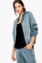 Boohoo Holly Fit Sports Luxe Bomber Jacket
