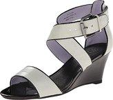 Johnston & Murphy Women's Marlena Cross Ankle Strap Wedge Sandal