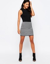 Motel Stripe Kimmy Mini Skirt