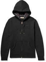Burberry Fleece-Back Cotton-Blend Jersey Zip-Up Hoodie