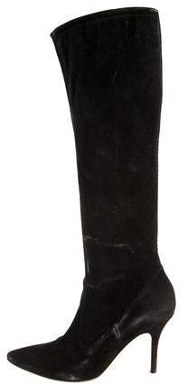 Gianvito Rossi Suede Pointed-Toe Boots