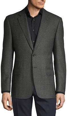 Armani Collezioni Textured Mini Check Wool Sportcoat