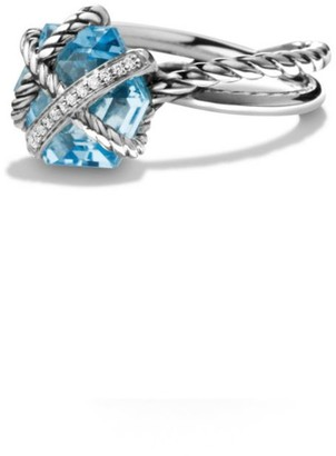 David Yurman Cable Wrap Ring with Gemstone & Diamonds