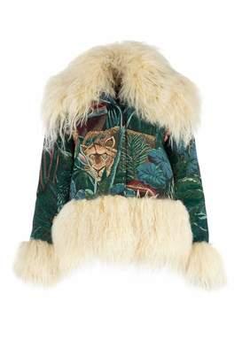 Kenzo Fur Trimmed Tiger Jacket