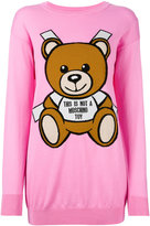 Moschino toy bear paper cut out sweater dress - women - Cotton - XS