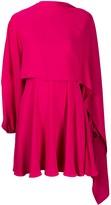 Valentino asymmetric layered georgette dress