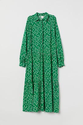 H&M Collared Dress - Green