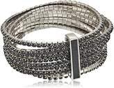 ABS by Allen Schwartz Black Magic Rhinestone Stretch Bracelet