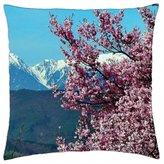 "iRocket - Cherry blossoms - Throw Pillow Cover (24"" x 24"", 60cm x 60cm)"