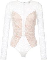 Fleur Du Mal lace longsleeved bodysuit - women - Polyamide/Spandex/Elastane/Viscose - XS