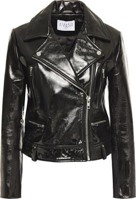 Claudie Pierlot Patent-leather Biker Jacket