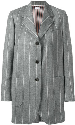 Thom Browne Shadow-Stripe Sack Jacket