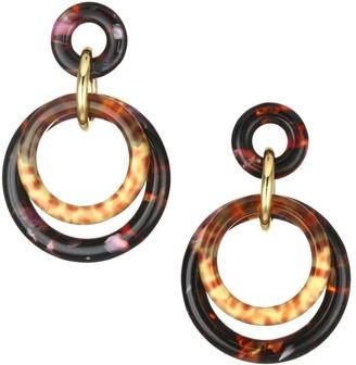 Lele Sadoughi Double-Ring Earrings