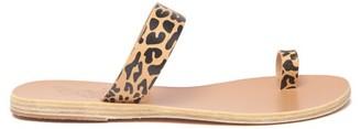 Ancient Greek Sandals Thalia Cheetah-print Leather Sandals - Tan Multi